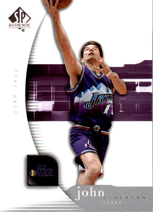 2005-06 SP Authentic #87 John Stockton