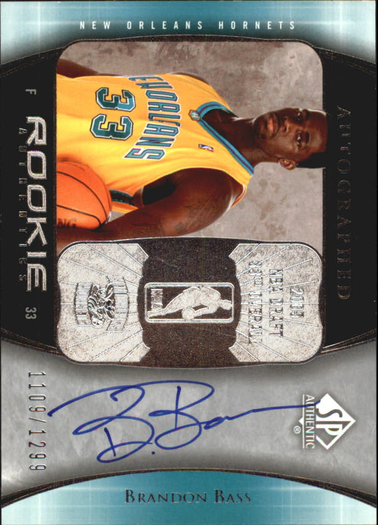 2005-06 SP Authentic #99 Brandon Bass AU RC