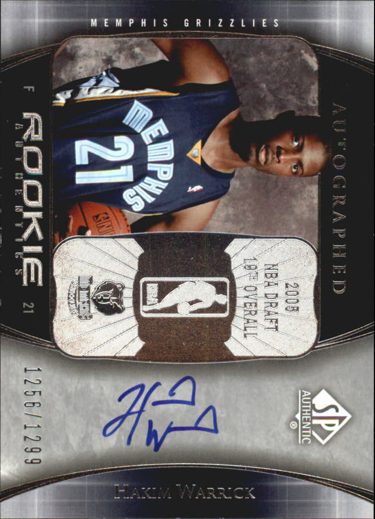 2005-06 SP Authentic #109 Hakim Warrick AU RC
