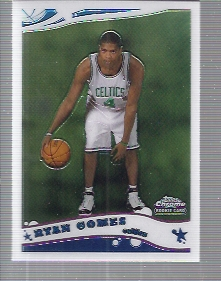 2005-06 Topps Chrome #185 Ryan Gomes RC front image