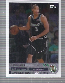 2005-06 Topps Big Game #125 Ryan Gomes RC