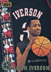 1997 Score Board Players Club Play Backs #PB7 Allen Iverson