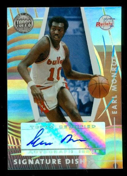 2005-06 Topps First Row Signature Dish #EM Earl Monroe/83