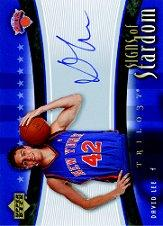 2005-06 Upper Deck Trilogy Signs of Stardom #DL David Lee