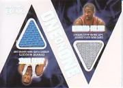 2005-06 Topps Luxury Box One on One Dual Relics #HF Julius Hodge/Raymond Felton