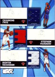 2005-06 Topps Luxury Box Trinity Triple Relics #FMR Channing Frye/Stephon Marbury/Quentin Richardson