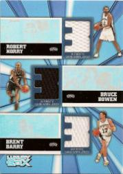 2005-06 Topps Luxury Box Trinity Triple Relics #HBB Robert Horry/Bruce Bowen/Brent Barry