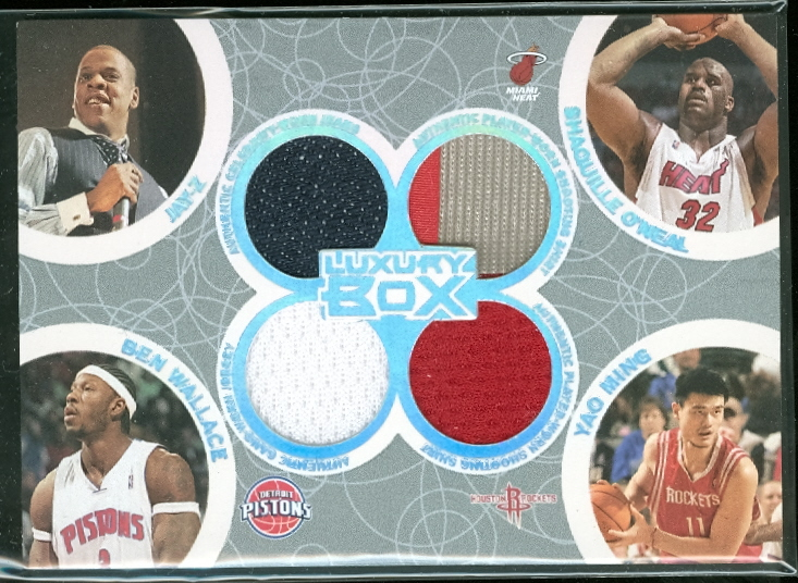 2005-06 Topps Luxury Box Box Out Quad Relics #32 Jay-Z/Shaquille O'Neal/Ben Wallace/Yao Ming