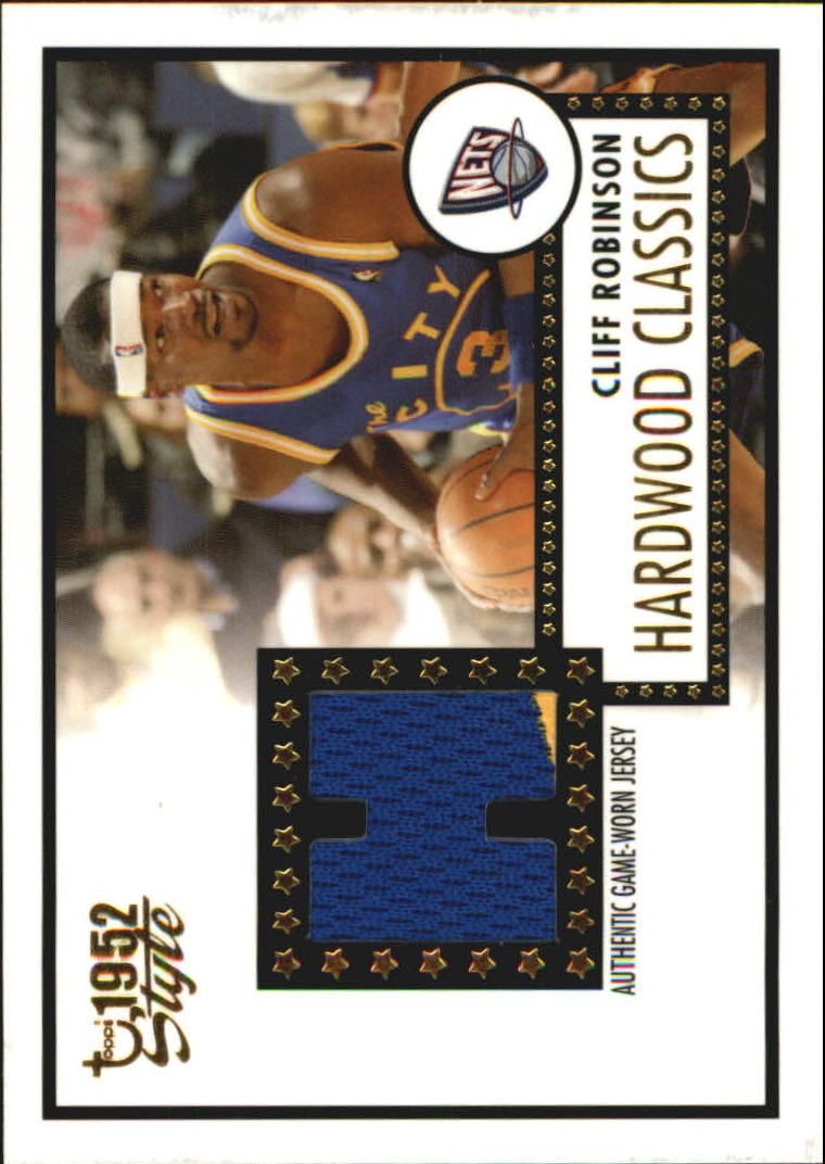 2005-06 Topps Style Hardwood Classics #CR Cliff Robinson