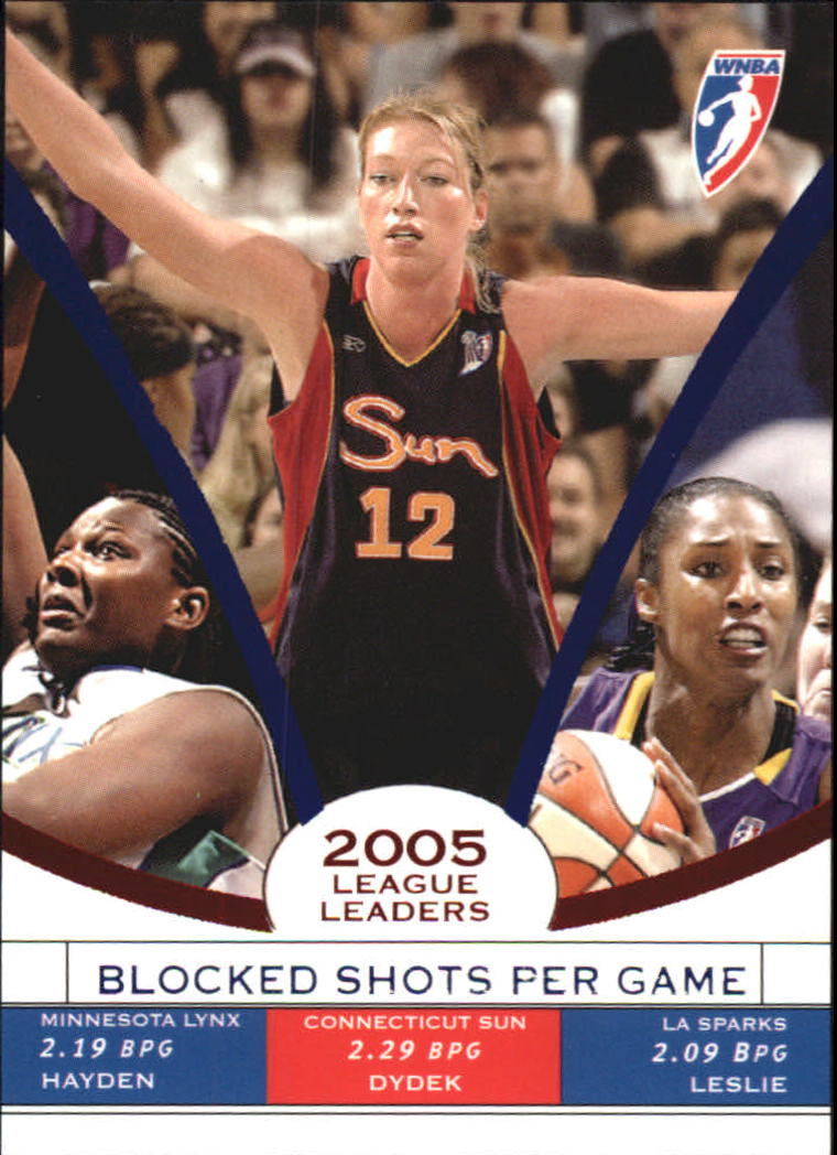 2006 WNBA League Leaders #LL5 Margo Dydek/Vanessa Hayden/Lisa Leslie