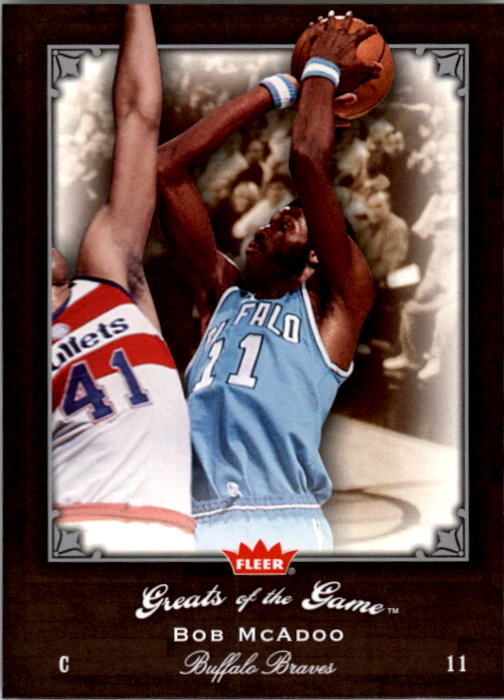 2005-06 Greats of the Game #4 Bob McAdoo