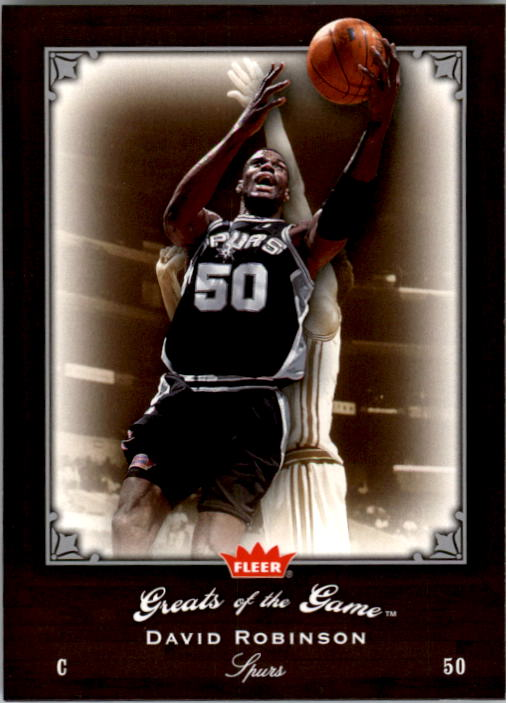 2005-06 Greats of the Game #16 David Robinson