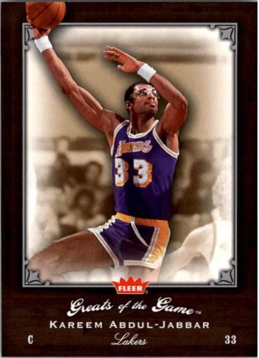 2005-06 Greats of the Game #37 Kareem Abdul-Jabbar