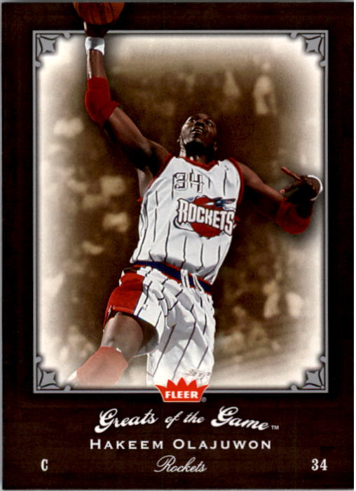 2005-06 Greats of the Game #47 Hakeem Olajuwon