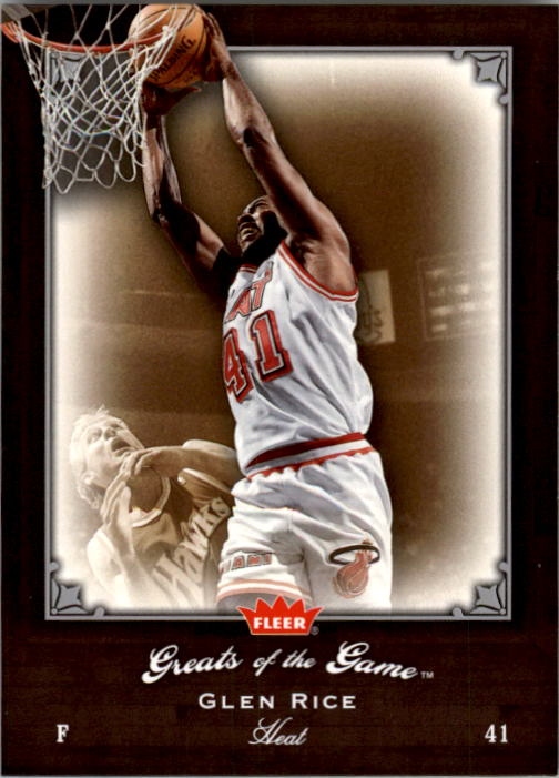 2005-06 Greats of the Game #67 Glen Rice