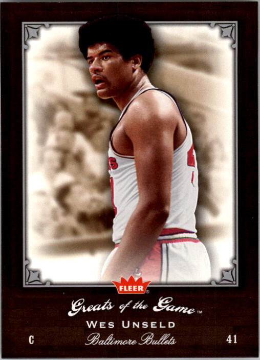 2005-06 Greats of the Game #88 Wes Unseld