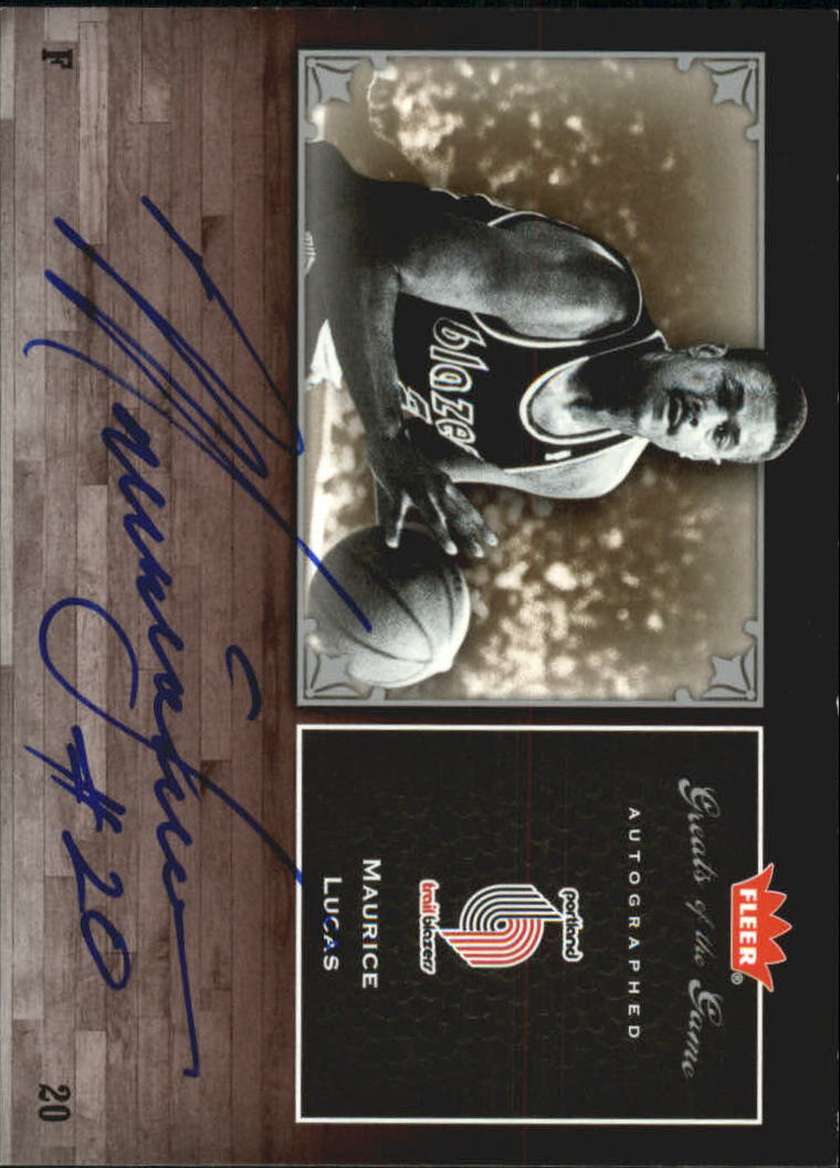 2005-06 Greats of the Game Autographs #GGML Maurice Lucas