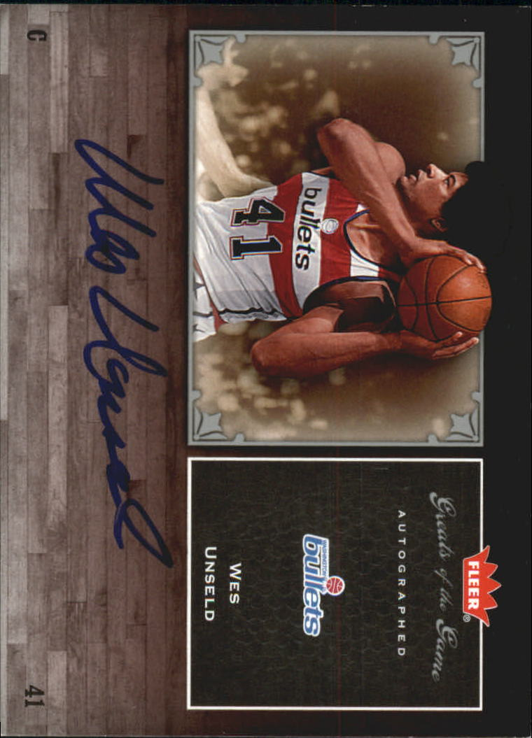 2005-06 Greats of the Game Autographs #GGWU Wes Unseld