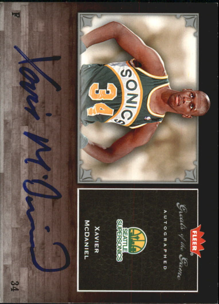 2005-06 Greats of the Game Autographs #GGXM Xavier McDaniel
