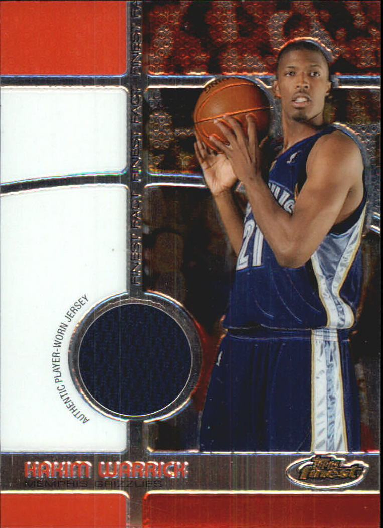 2005-06 Finest Fact Relics #HW Hakim Warrick