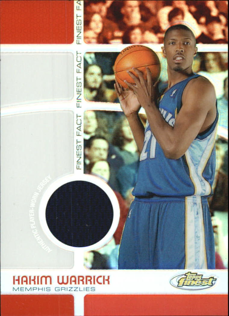 2005-06 Finest Fact Relics Refractors #HW Hakim Warrick