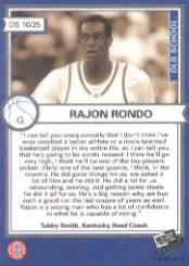 2006 Press Pass Old School #10 Rajon Rondo back image
