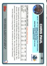 2006-07 Topps #3 Chris Paul back image