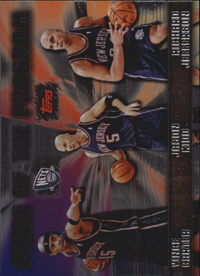 2006-07 Topps Pride of the Program #PP3 Vince Carter/Jason Kidd/Richard Jefferson