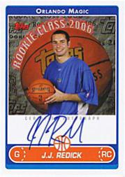 2006-07 Topps Rookie Photo Shoot Autographs #JJR J.J. Redick