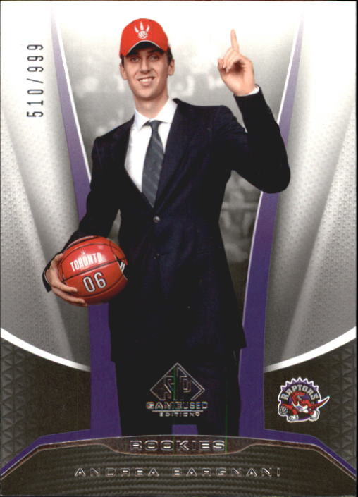 2006-07 SP Game Used #201 Andrea Bargnani RC