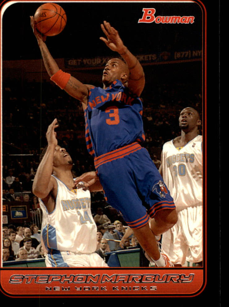 2006-07 Bowman #102 Stephon Marbury