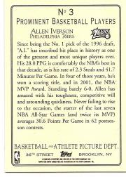 2006-07 Topps Turkey Red #3 Allen Iverson SP back image