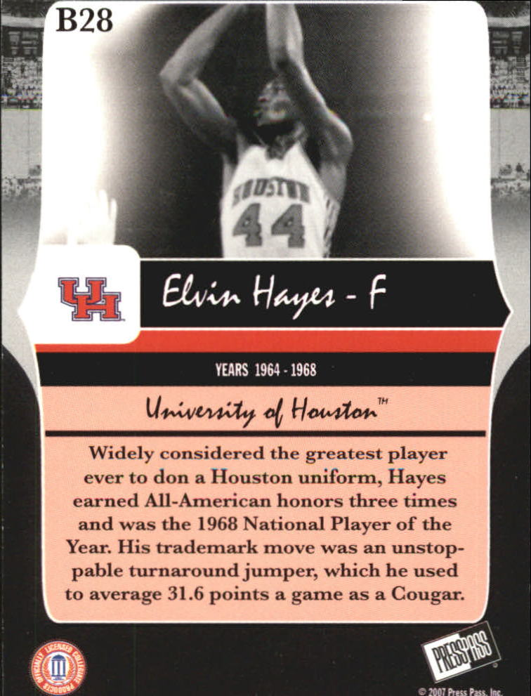 2006-07 Press Pass Legends Bronze #28 Elvin Hayes back image