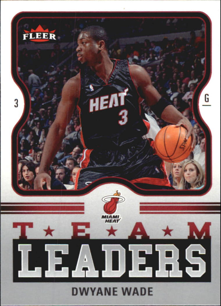 2006-07 Fleer Team Leaders #DW Dwyane Wade