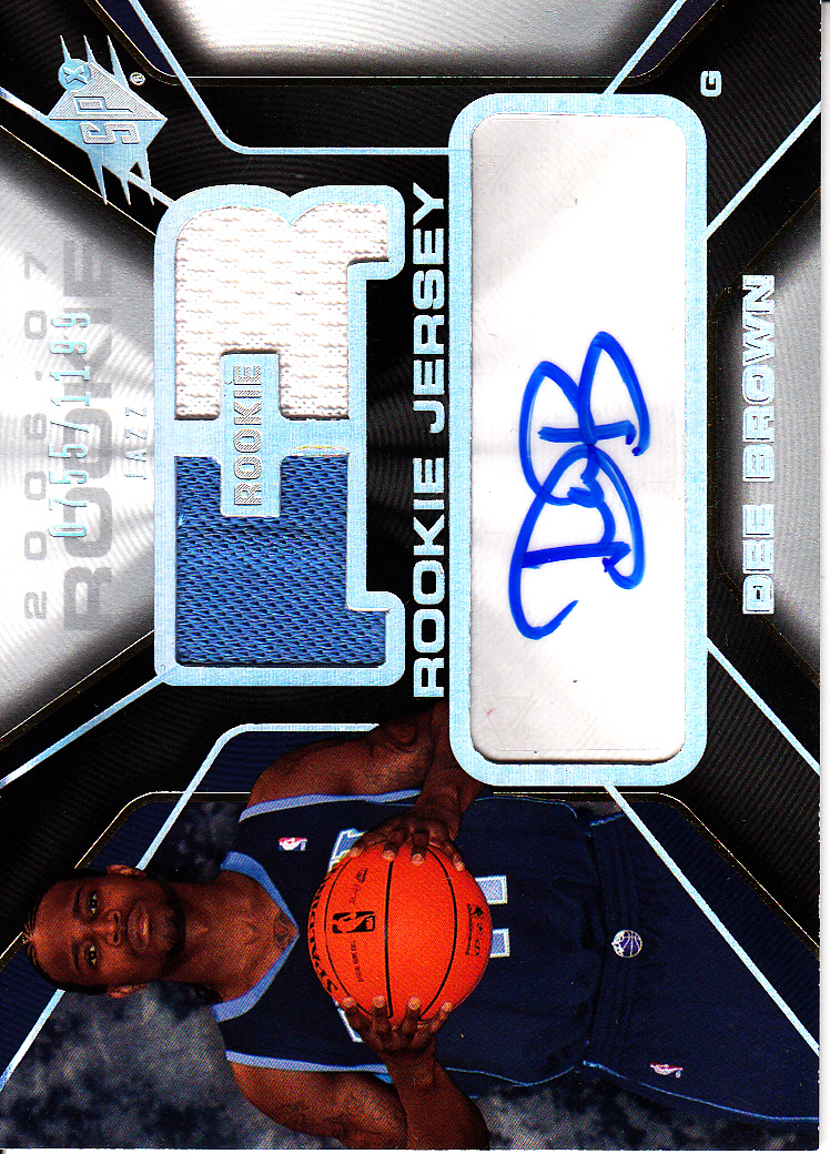 2006-07 SPx #134 Dee Brown JSY AU RC