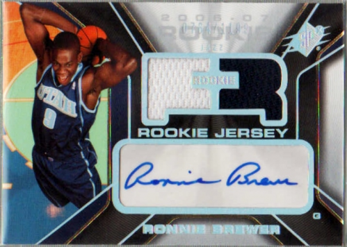 2006-07 SPx #148 Ronnie Brewer JSY AU RC