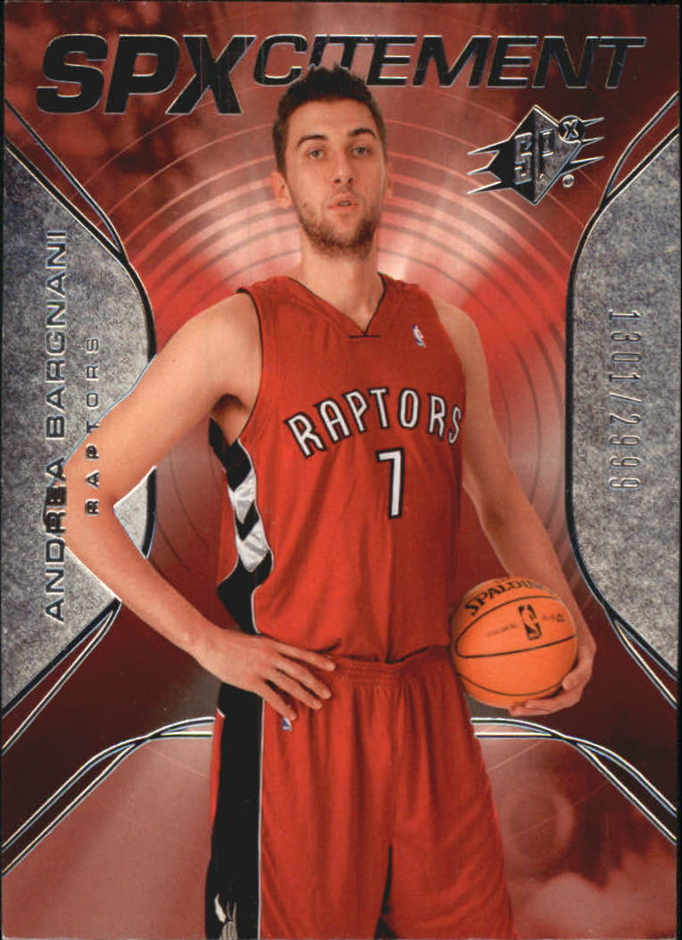 2006-07 SPx SPxcitement #SPX1 Andrea Bargnani