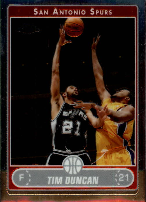2006-07 Topps Chrome #2 Tim Duncan