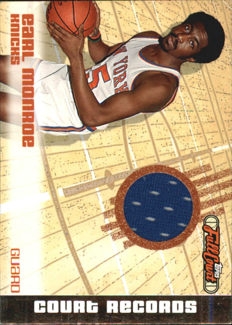 2006-07 Topps Full Court Court Records Relics #CR13 Earl Monroe