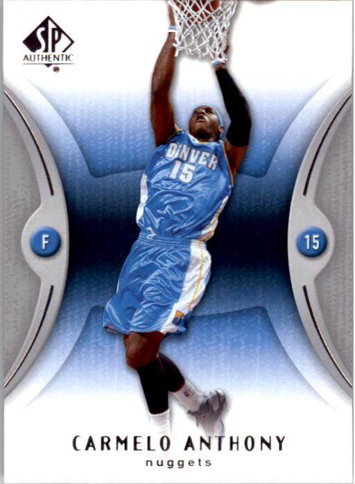 2006-07 SP Authentic #19 Carmelo Anthony