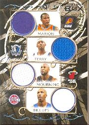 2006-07 Topps Luxury Box Relics Quad #1 Shawn Marion/Jason Terry/Alonzo Mourning/Chauncey Billups