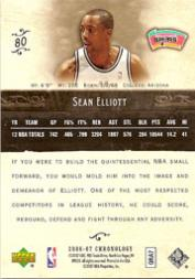 2006-07 Chronology #80 Sean Elliott back image