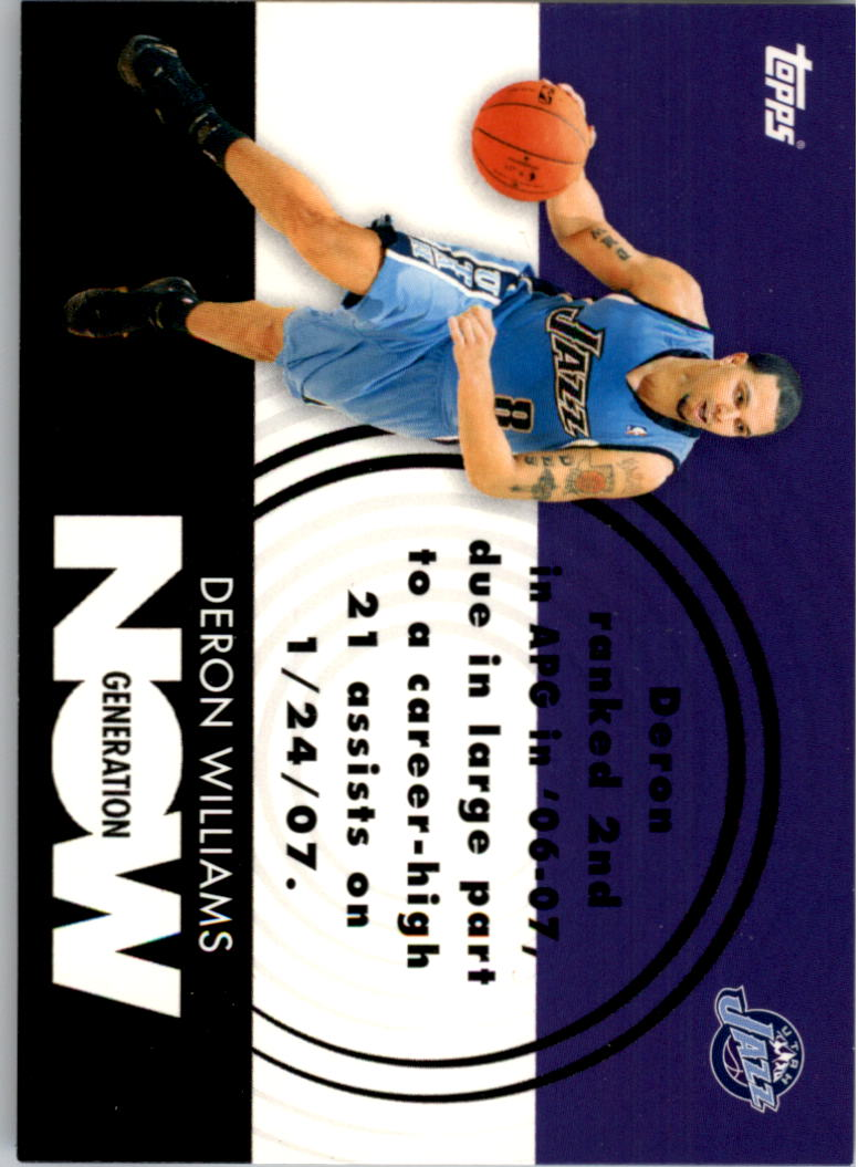 2007-08 Topps Generation Now #GN13 Deron Williams