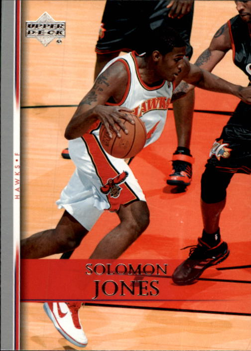 2007-08 Upper Deck #144 Solomon Jones