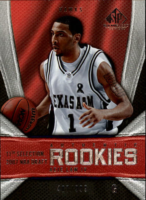 2007-08 SP Game Used #151 Acie Law RC