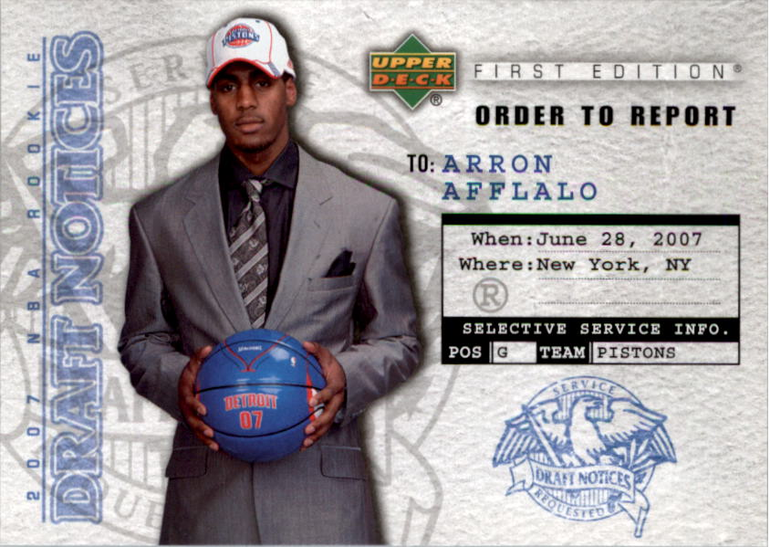 2007-08 Upper Deck First Edition Draft Notices #DN25 Arron Afflalo