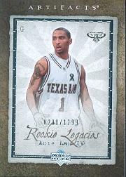 2007-08 Artifacts #111 Acie Law RC