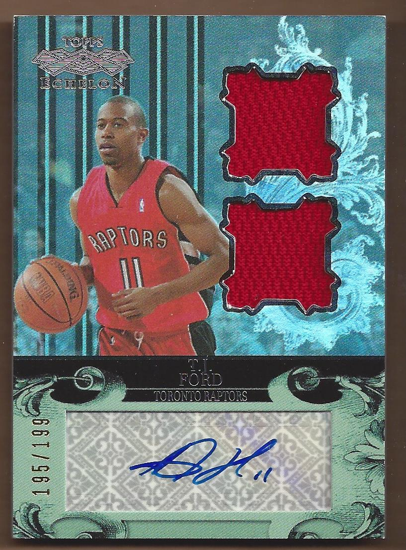 2007-08 Topps Echelon Autographs Dual Relics  #RTJF T.J. Ford