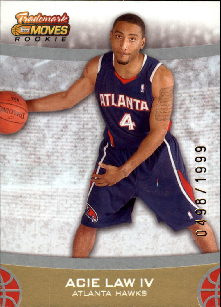 2007-08 Topps Trademark Moves #63 Acie Law RC