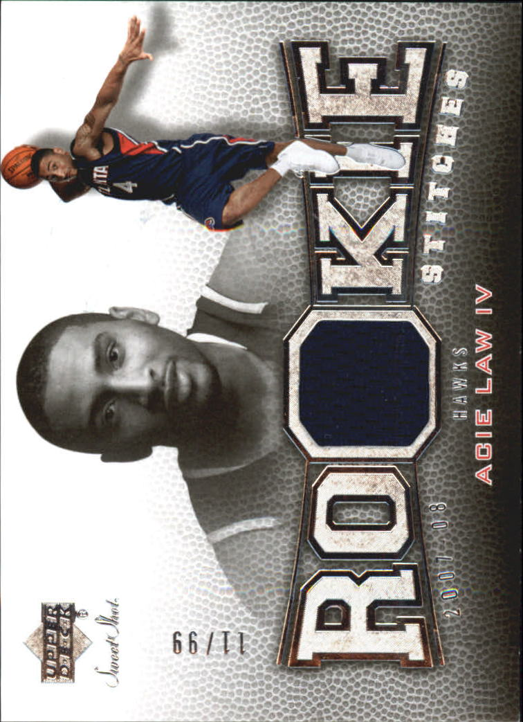 2007-08 Sweet Shot Rookie Stitches #AL Acie Law